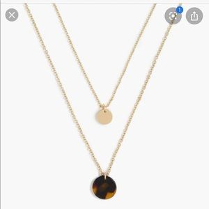 JCrew Tortoise and Gold layered necklace.